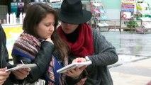 Mimar adayları Merkez Bankası'nı kuşattı...Genç mimar adayları çizim için sokaklara çıktı
