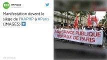 Grève aux urgences de l'AP-HP : une centaine de manifestants devant le siège à Paris