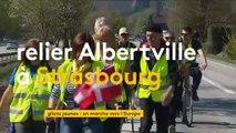 Des gilets jaunes marchent pour leur dignité d'Albertville à Strasbourg