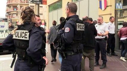 Manifestation des policiers  contre les suicides au sein de leurs rangs