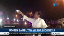Momen Jokowi Disambut Meriah Warga Indonesia
