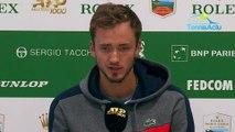"""ATP - Rolex Monte-Carlo 2019 - Daniil Medvedev : """"J'ai vu que je pouvais faire souffrir Novak Djokovic"""""""