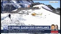 Dans le massif du Mont-Blanc, des poches d'eau sous un glacier menacent la vallée de Saint-Gervais