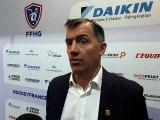 La réaction de Philpp Bozon, selectionneur de l'équipe de France de hockey-sur-glace