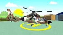 Véhicules & Machines Militaires, d'Hélicoptères, de Voitures, Réservoir | vidéo Colorée pour les Enfants | Maszyny Wojskowe #
