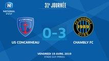J31 : US CONCARNEAU - CHAMBLY FC (0-3), le résumé