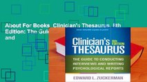 About For Books  Clinician's Thesaurus, 8th Edition: The Guide to Conducting Interviews and