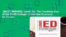 [MOST WISHED]  Lower Ed: The Troubling Rise of For-Profit Colleges in the New Economy by Tressie