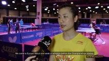 Ding Ning & Zhu Yuling Training Interviews | Liebherr 2019 ITTF World Table Tennis Championships