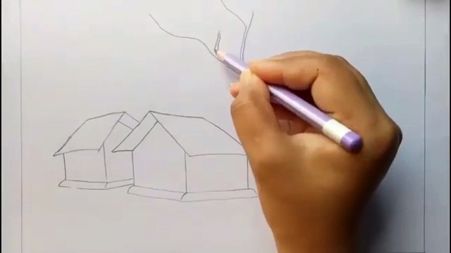 Amazing Art-How to draw scenery of Light and shadow by Pencil sketch Art n Tricks