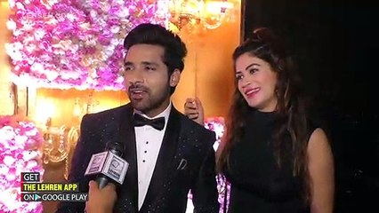 Puneesh And Bandgi's Exclusive Interview At Ssharad Malhotra's Sangeet Ceremony