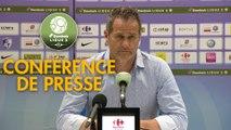 Conférence de presse Grenoble Foot 38 - RC Lens (0-2) : Philippe  HINSCHBERGER (GF38) - Philippe  MONTANIER (RCL) - 2018/2019