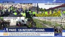 Gilets jaunes: tensions dans le cortège parisien (1/2)