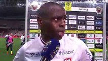 Réaction de Prince Oniangué après OGC Nice / SMCaen