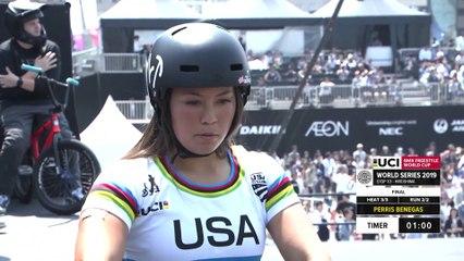Perris Benegas | 3rd place - UCI BMX Freestyle Park World Cup Women Final | FISE Hiroshima 2019