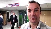 Réaction de Cyril Lafon (arbitre de Top 14) après la finale d'Honneur, à Bourgoin-Jallieu