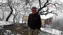 Güroymak'ta lapa lapa kar yağdı... Vatandaş şaşkınlığını gizleyemedi