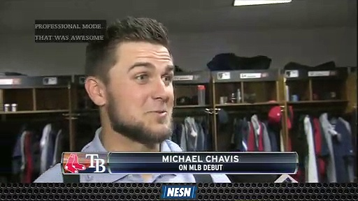 Michael Chavis' Postgame Interview After Getting First MLB Hit Is Must-See
