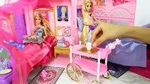 Barbie princesse Raiponce Chambre Rose Routine du Matin غرفة نوم باربي رابونزيل Barbie rosa Quarto