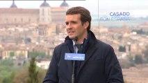 """Casado ve al PP como """"única alternativa"""" a Sánchez."""