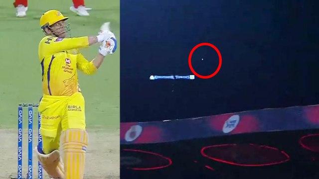 IPL 2019 CSK vs RCB: MS Dhoni hits ball out of the stadium for a six | वनइंडिया हिंदी