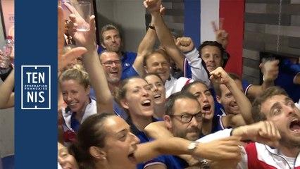 Fed Cup France-Roumanie : un selfie arrosé !