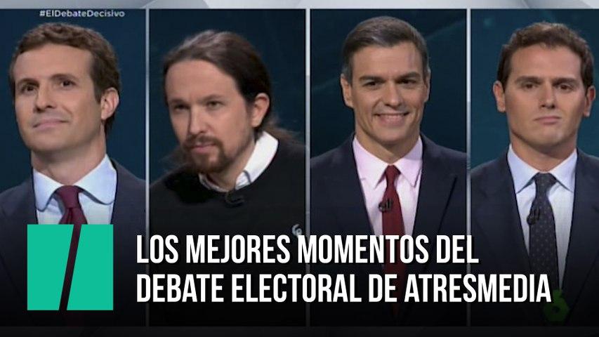 Los mejores momentos del debate de Atresmedia, en menos de cuatro minutos