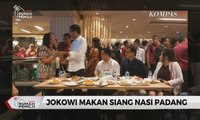Akhir Pekan Jokowi: Makan Nasi Padang di Mal Hingga Pulang Naik MRT