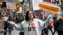 Mom vs New York Hot Dog Stand