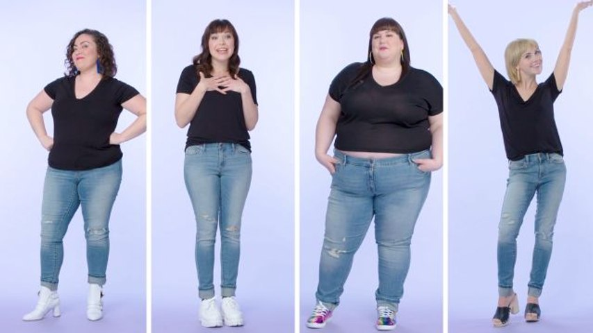 Women Sizes 0 Through 28 Try on the Same Skinny Jeans