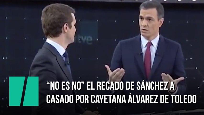 """""""No es no"""", el recado de Sánchez a Casado para Cayetana Álvarez de Toledo"""