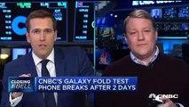 En direct à la télé, ce journaliste de NBC montre que son nouveau téléphone Samsung Galaxy a double écran ne marche pas !