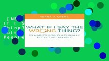 [NEW RELEASES]  What If I Say the Wrong Thing?: 25 Habits for Culturally Effective People by