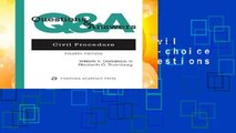 [NEW RELEASES]  Civil Procedure: Multiple-choice and Short-answer Questions and Answers