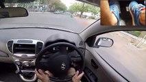 how to take U turn in car and cross circles in car using half clutch