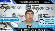 Oklahoma City Thunder vs Portland Trail Blazers 4/23/2019 Picks Predictions