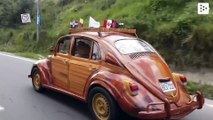 From Lima to New York driving a wooden car