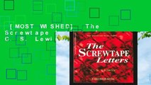 [MOST WISHED]  The Screwtape Letters by C. S. Lewis