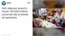 """Opération """"petit-déjeuner gratuit à l'école"""" : l'Etat débloque 6 millions d'euros pour 2019"""