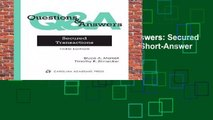 [NEW RELEASES]  Questions   Answers: Secured Transactions, Multiple-Choice and Short-Answer