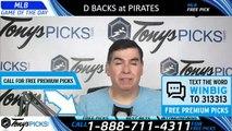 Arizona Diamondbacks vs. Pittsburgh Pirates 4/23/2019 Picks Predictions