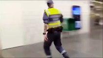 Regardez comment cet agent de sécurité stoppe 2 individus qui en viennent aux mains