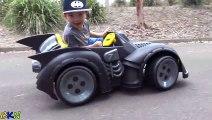 Neue Batman-Batmobile-Batterie-Powered Ride-On Auto-Power-Räder Unboxing-Test-Drive Mit Ckn Spielzeug