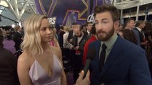 'Avengers: Endgame' Premiere: Captain Marvel Brie Larson and Captain America Chris Evans