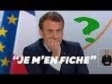 """Macron affirme """"se ficher"""" de l'élection présidentielle de 2022"""
