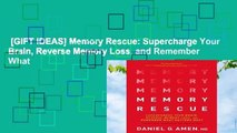 [GIFT IDEAS] Memory Rescue: Supercharge Your Brain, Reverse Memory Loss, and Remember What