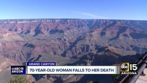 70-year-old woman falls to death at Grand Canyon