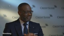 Credit Suisse CEO Thiam Discusses Earnings, Trading Unit, Global Risks