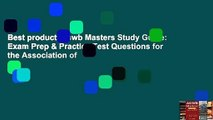 Best product  Aswb Masters Study Guide: Exam Prep & Practice Test Questions for the Association of