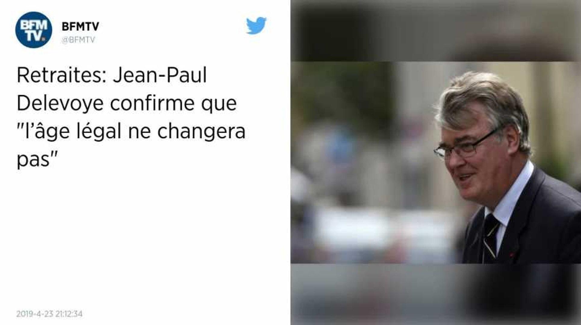 Retraites. Jean-Paul Delevoye veut «amener les gens à 63 - 64 ans qui est l'âge d'équilibre du syst